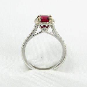 Mozambique Ruby and Diamond Ring