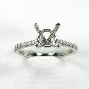 Platinum Fishtail Diamond Engagement Ring