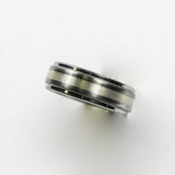 Tungston and Sterling Silver Wedding Band