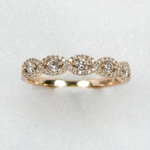 Rose Gold Infinity Diamond Band