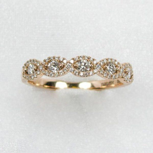 Rose Gold Infinity Diamond Band